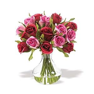 Petals Sweetheart Rose Silk Flower Arrangement 1