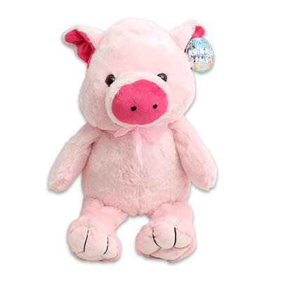 large plush cuddle pink pig stuffed toy 20 tall pig puppets. Black Bedroom Furniture Sets. Home Design Ideas