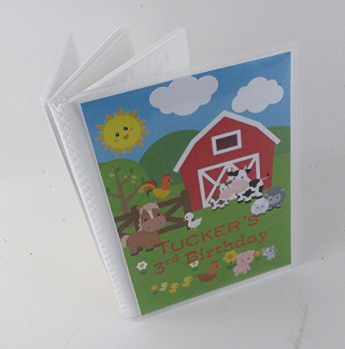 Birthday Photo Album. 541. Barnyard farm animals. personalized baby photo album. boy or girl- -up to 100 pictures