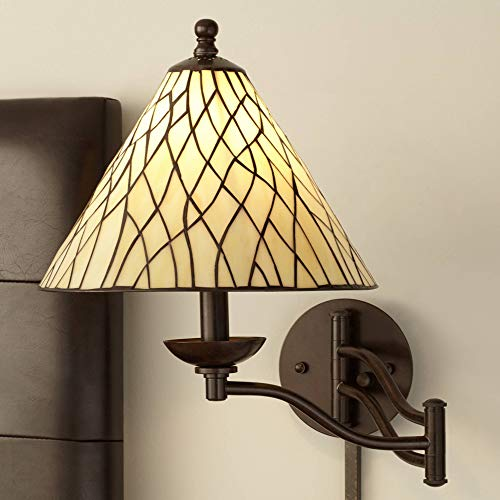 Robert Louis Tiffany Iron Vine Swing Arm Wall Lamp - Robert Louis -