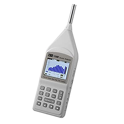 TES 1358E Sound Analyzer IEC 61672-1 Class 1 standard. Real-time 1/1-Octave and 1/3-Octave analysis.