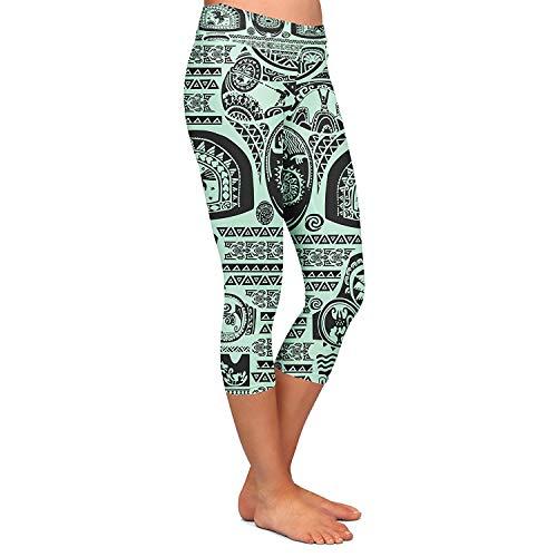 Décontracté Motif Élastique Yoga De Leggings Ocasional Jogging Stretch Capri Pantalon Imprimé Mode Mesdames Targogo Menthe Taille 7Xwxpw