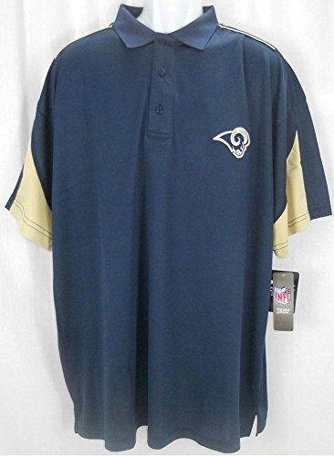 St Louis Rams NFL Team Apparel Dri Fit Performance Polo Shirt Big & Tall Sizes (Rams Performance Team Polo)