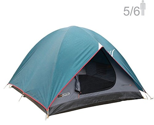 NTK Cherokee GT 5 to 6 Person 9.8 by 9.8 Foot Outdoor Dome Family Camping Tent 100% Waterproof 2500mm, Easy Assembly, Durable Fabric Full Coverage Rainfly - Micro Mosquito Mesh