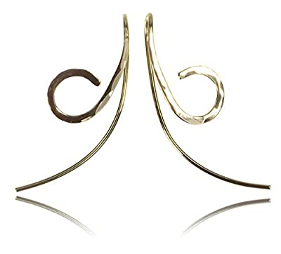 14K Yellow Gold Earrings Beta Design from ugems