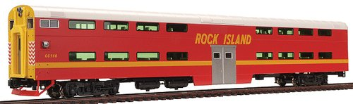 Kato USA Model Train Products Pullman Rock Island #CC116 Bi-Level 4-Window Cab Coach