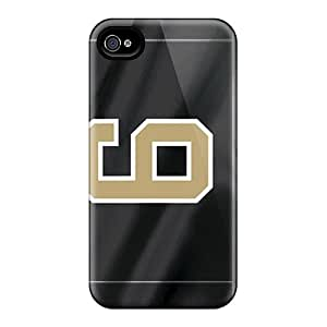 Shock-Absorbing Hard Phone Cases For Iphone 6 With Unique Design Colorful New Orleans Saints Image IanJoeyPatricia