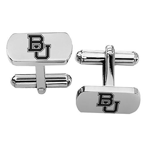 Baylor University Bears Rectangular Shape Stainless Steel Cufflinks