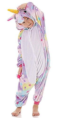 BLIFECOS BELIFECOS Flannel Children Unicorn Cosplay Costume Star Onesie Pajamas for Kids 115 by BELIFECOS (Image #3)