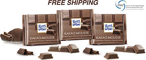 (Cocoa Mousse - Whole Milk Chocolate with whipped Cocoa Cream 3 x 100 g, Ritter Sport/Germany)