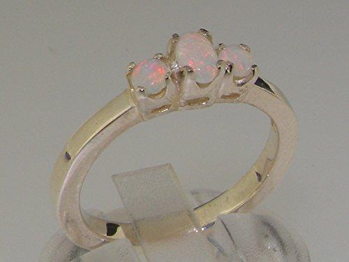 Haute Qualité Bague pour Femme en Argent fin 925/1000 sertie d'Opale - Tailles 47 à 68 disponibles