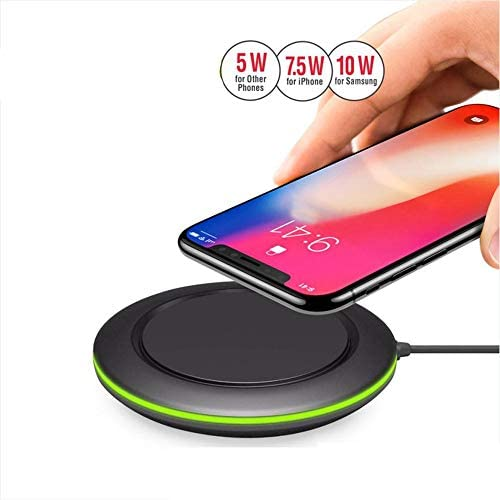 Xflelectronic Caricabatterie 10W Wireless Universale/Qi Caricabatterie Universale Veloce Senza Fili per iPhone X/XS/XR/iPhone 8/8 Plus/Samsung S9 / S9 + / S8 / S8 + / S7 / Nota 8