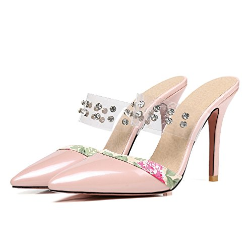 Sandals Thin High Women��s Mules Odetina Slingback Pointed Toe Heels Shoes Dress Sexy Pumps Apricot Slides qx0YxfawI