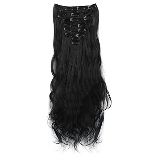 Focussexy 8 Piece 18 Clips Curly Wave Synthetic