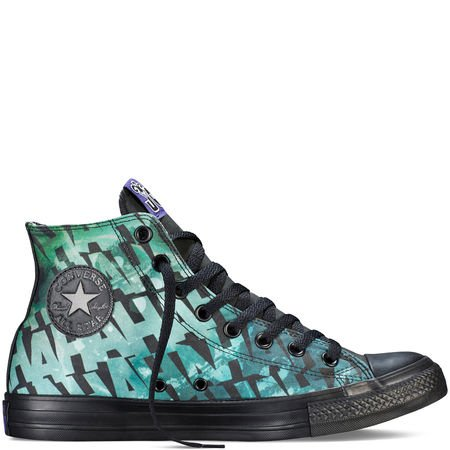 Converse Chuck Taylor All Star High DC Comics Batman THE JOKER Limited Edition BLACK WHITE GREEN BLUE PRINT 150864C 12 MENS 14 WOMENS 12 UK 46,5 EU 30,5 CM