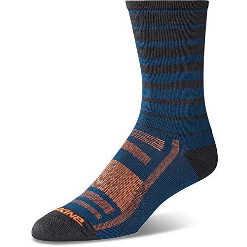 Socks Dakine Mens - Dakine Singletrack Sock Slate Blue Stripe S/M
