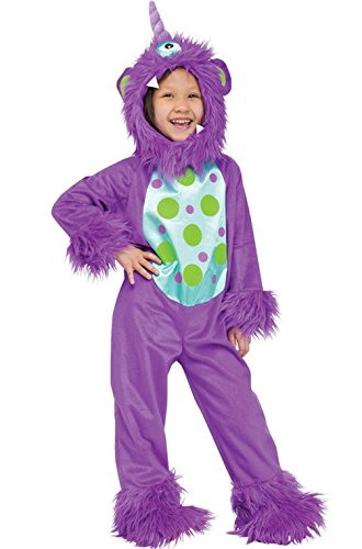 [Mememall Fashion Li'l Monster Toddler Halloween Costume (Purple)] (Red Furry Monster Costume)