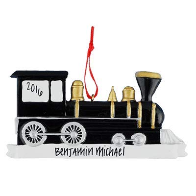 Locomotive/Train Personalized Ornament - (Unique Christmas Tree Ornament - Classic Decor for A Holiday Party - Custom Decorations for Family Kids Baby Military Sports Or Pets) ()