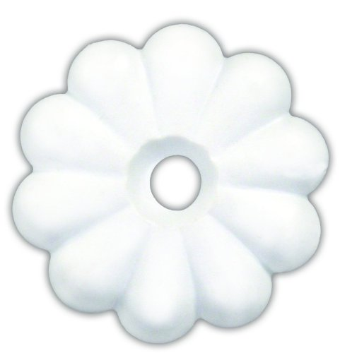 Plastic Timbale - JR Products 20455 Plastic Rosette, Pack of 14 - White