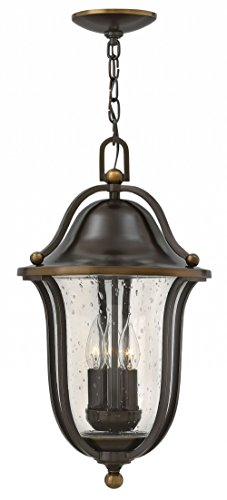 - Hinkley 2642OB Traditional Three Light Hanging Lantern from Bolla collection in Bronze/Darkfinish,