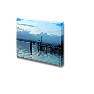 Romantic Italian Summer Night Peaceful Evening on Lago Di Garda in Italy Wall Decor, Professional Creation, Astonishing Style