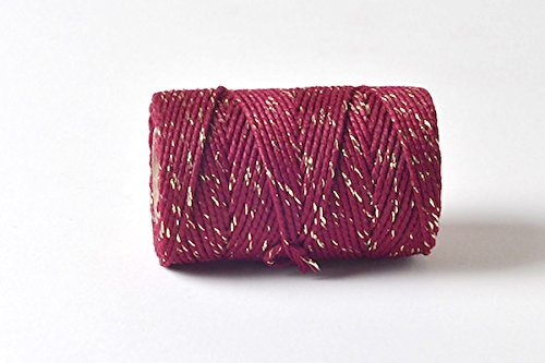 quality-cotton-burgundy-gold-bakers-twine-100m-by-james-lever-everlasto