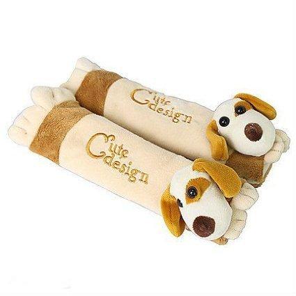 UPC 769700269796, Auto Car Seat Belt Cover Plush Seat Shoulder Pad Cushion 2 Pcs One Pair (Dog)