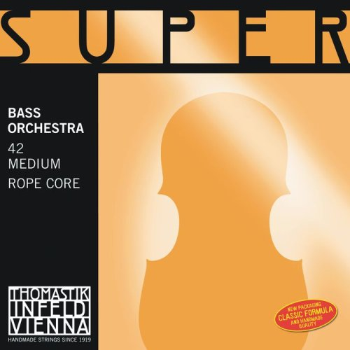 Thomastik-Infeld 2887 Super Flexible, Double Bass Strings, Complete Set, 2887.0, 3/4 Size, Orchestral Tuning, Steel Core, Chrome (Round Wound Double Bass Strings)