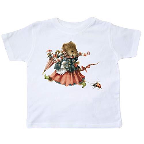 inktastic Vera The Mouse and Ladybug Toddler T-Shirt 2T White - Marjolein Bastin