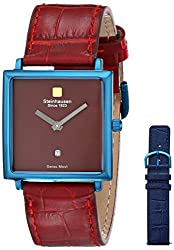 Steinhausen Women's LW516-UR Square Blue Watch with Two Interchangeable Bands