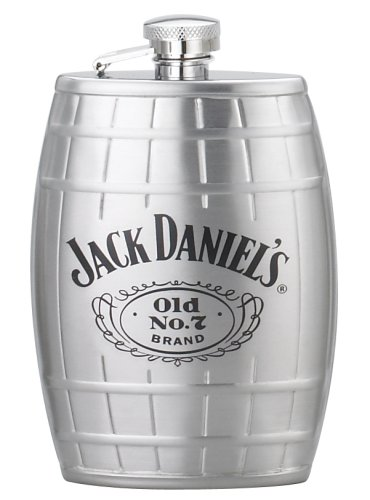 Jack Daniels Licensed Barware 8495 Swing Cartouche Flask, 6 oz, -