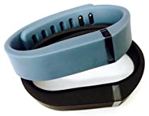 ! Small S 1pc Black 1pc Slate (Blue/Grey) Replacement Bands + 1pc Free Small Grey Band With Clasp for Fitbit FLEX Only /No tracker/ Wireless Activity Bracelet Sport Wristband Fit Bit Flex Bracelet Sport Arm Band Armband