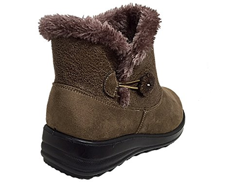 Taupe Botas Footwear mujer chica Button unisex Chelsea adultos Foster wC0xpzHq1