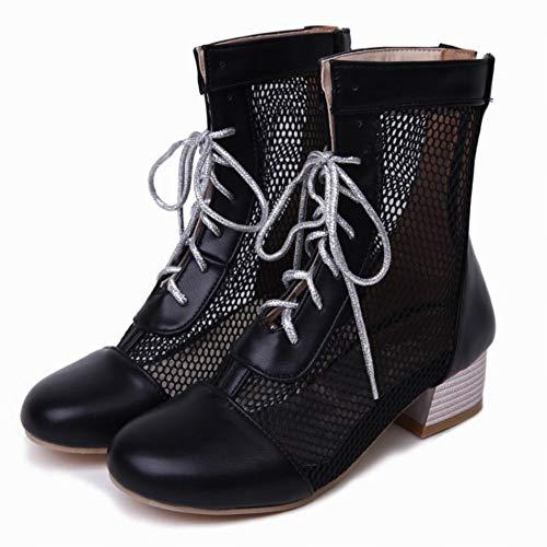 Stivaletti Donna MissSaSa Boots Moda Nero Summer d7Ixgw