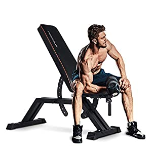 FEIERDUN Weight Bench – 1000LBS Utility Adjustable Weight Bench Heavy Duty Workout Bench & Incline/Decline to Flat Position