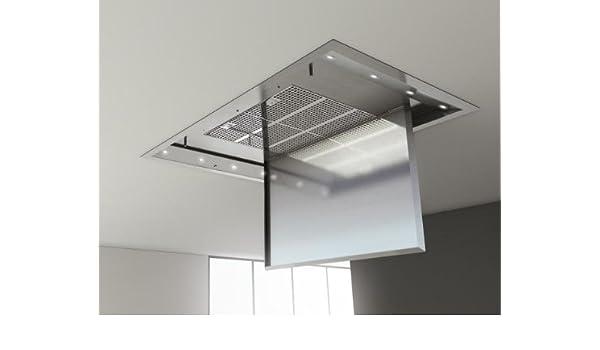 Pando E-220 De techo Acero inoxidable - Campana (Canalizado, De techo, Acero inoxidable, Acero inoxidable, 1,2 W, 8 bombilla(s)): Amazon.es: Hogar