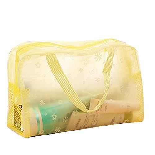(Cosmetic Bag Organizer Shusuen Waterproof Home Essential Laundry Mesh Wash Bag Makeup)