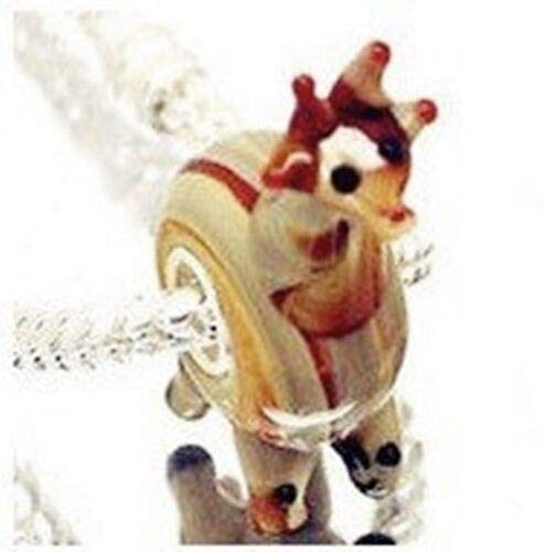 Giraffe 3D Animal Lampwork Glass 25mm Single Core Large 4.5mm Hole Charm Bead ID-1239
