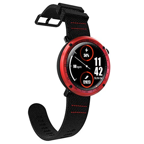 VAXT Direct L19 Sports Fitness Tracker Raincoat 1.3 inch TFT GPS Bluetooth Chic Watch with Heart Rate Monitor & Compass & Blood Pressure (Color : Red)
