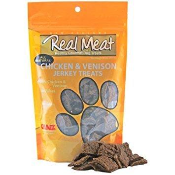 (The Real Meat Company 828005 Dog Jerky Chicken/Venison Treat, 4-Ounce )