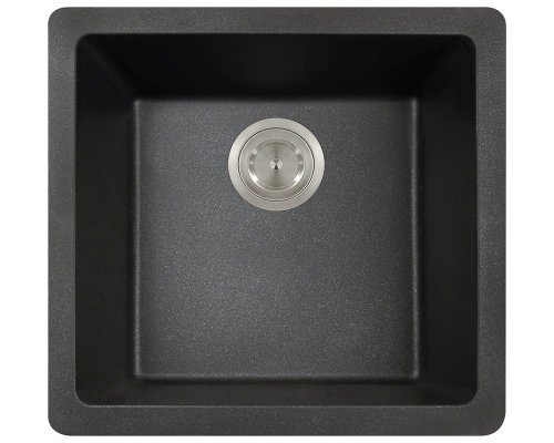 Polaris Sinks P508 Black AstraGranite Single Bowl Kitchen Sink by Polaris Sinks by Polaris Sinks