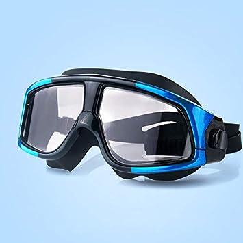 FS Unisex Natación Adulto Goggles- Reflejado con La Protección UV 100% - con Gafas De Natación De Silicona Ajustable Correa For La Cabeza