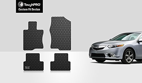 ToughPRO Acura TSX Floor Mats Set - All Weather - Heavy Duty - Black Rubber - 2009-2014 Acura Tsx Floor Mats