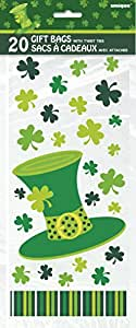 Saint Patrick's Day Stripes Cellophane Bags, 20ct
