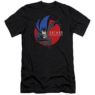 Batman The Animated Series Swinging In Mens Slim Fit Shirt Black Lg