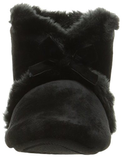 Pantofole Da Donna In Velour Diane Bootie Isotoner Nere