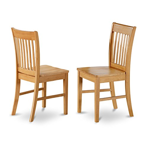 NOFK5-OAK-W 5 Pc dinette set - Dining Tables for small spaces and 4 Chairs for Dining room