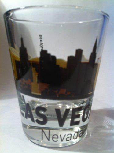 Las Vegas Nevada Sunset Skyline Shot Glass