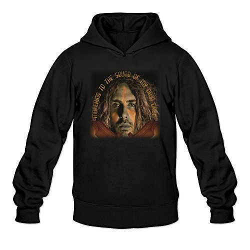 Moss Marching To The Sound Of My Own Drum Hooded Sweatshirt Black For Men