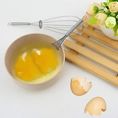 Colore: Argento leanBonnie Frusta per Uso Manuale Miscelatore Panna e Uova Durevole Frusta a Mano in Acciaio Inossidabile utensile da Cucina Frusta
